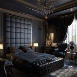 спальня с черной мебелью в английском стиле