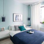 спальня со светлой мебелью дизайн