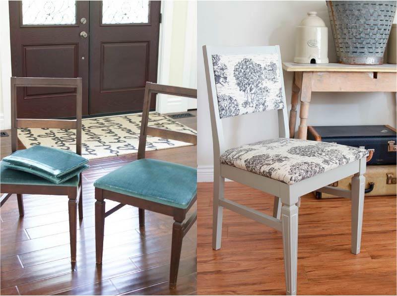 стул до и после реставрации