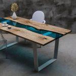 стеклянный стол дерево