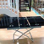 стеклянный стол черный