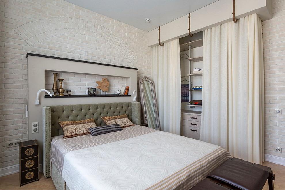 светлая спальня со светлой мебелью дизайн идеи
