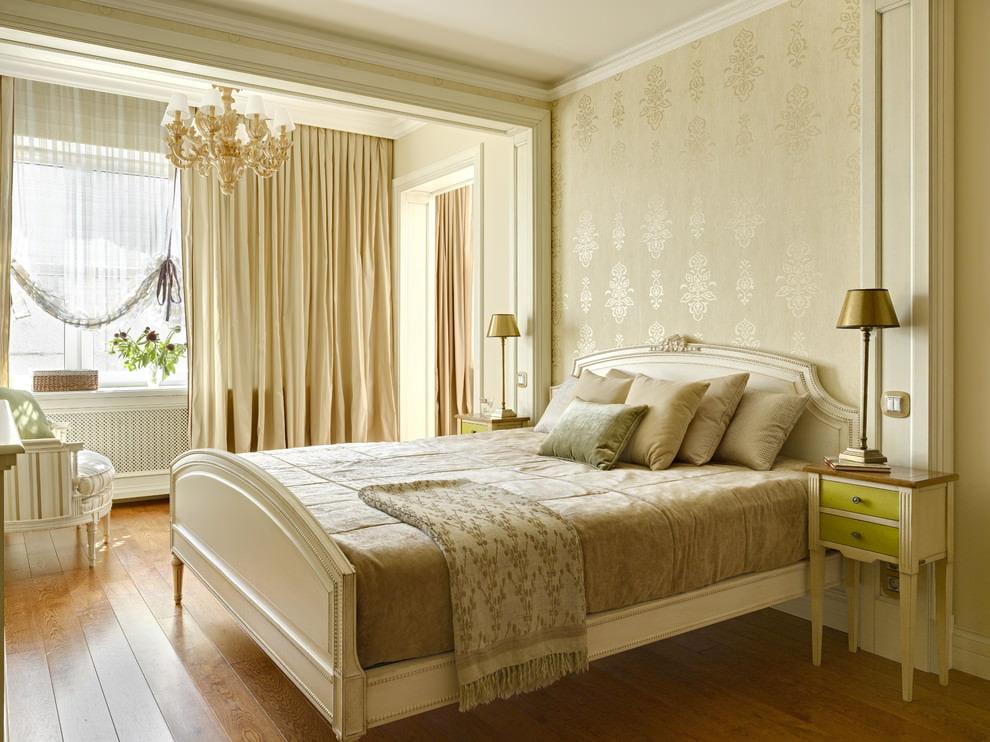 светлая спальня со светлой мебелью фото интерьер