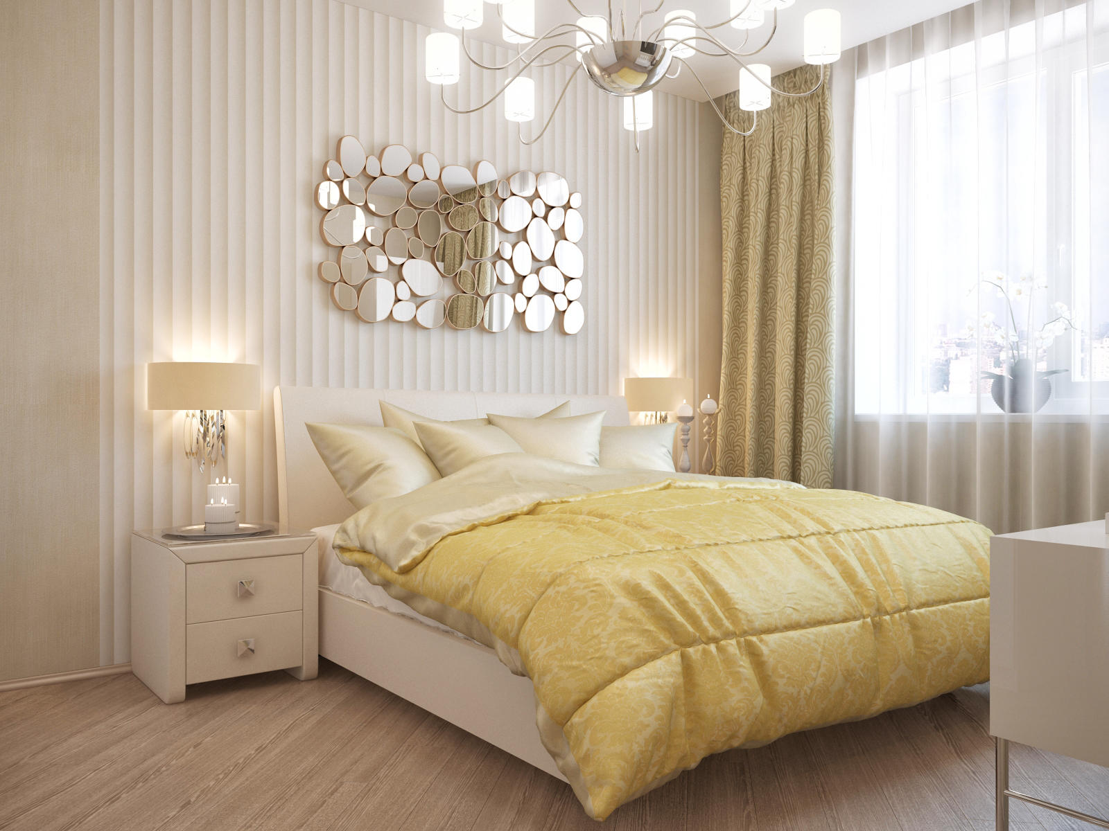 достаточно простое идеи оформления спальни обои фото некоторых