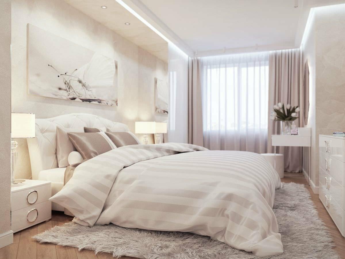светлая спальня со светлой мебелью идеи