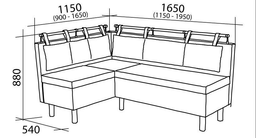 схема кухонного уголка