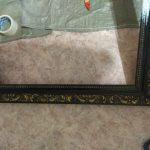 обработка рамы для зеркала