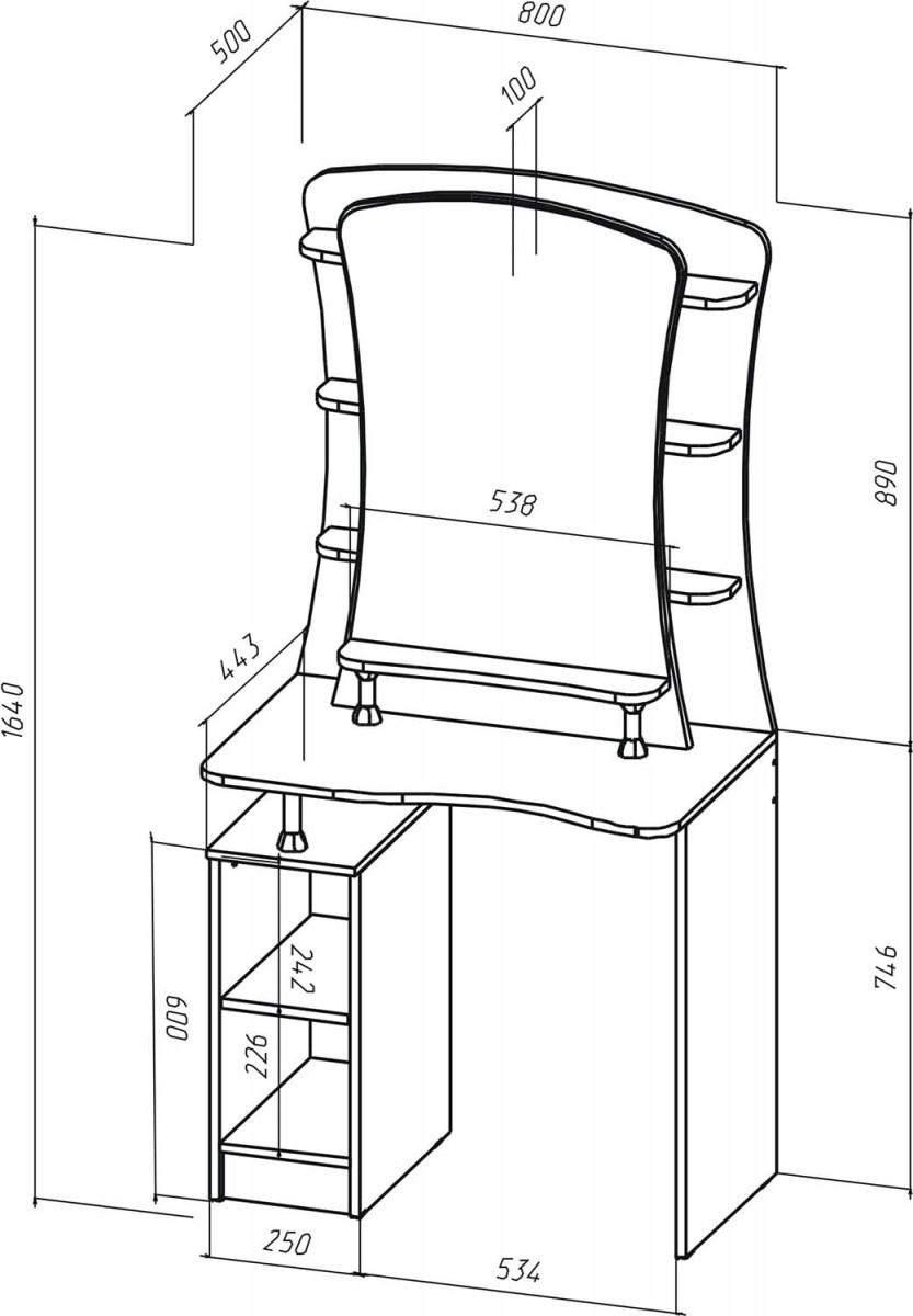 схема туалетного столика