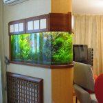 тумба под аквариум в стене