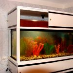 тумба под аквариум белая