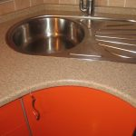 тумба под мойку оранжевая