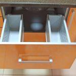 тумба под мойку оранжевая с ящиком
