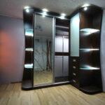 шкаф угловой подсветка