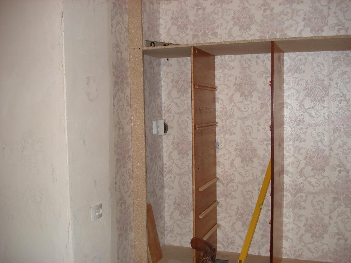 размещение встроенного шкафа
