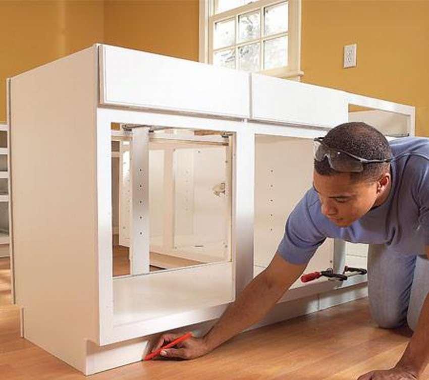 установка шкафов своими руками