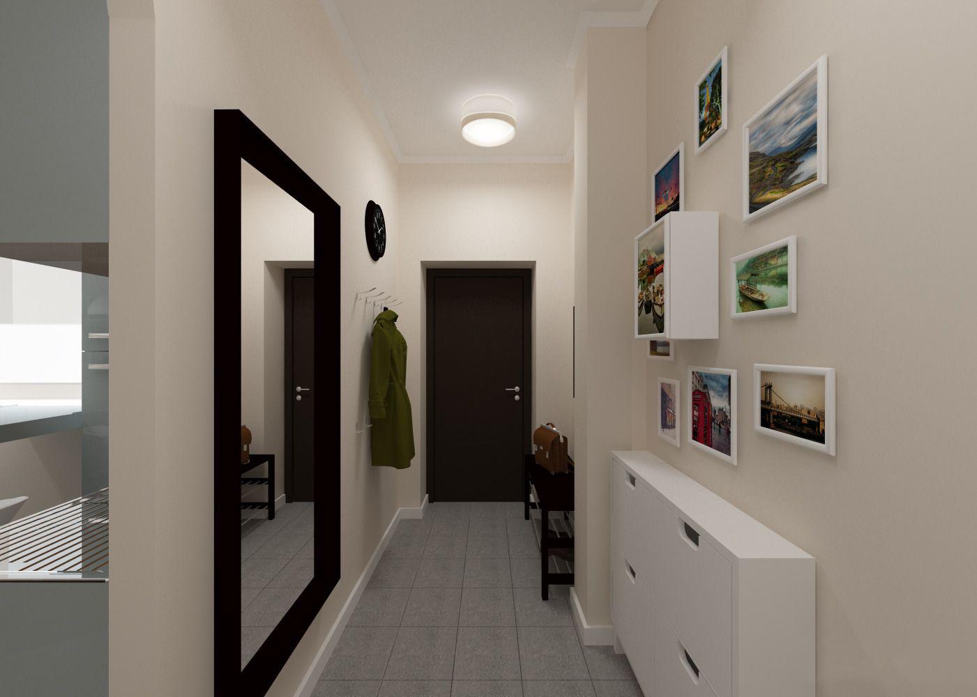 этом сами как украсить узкий коридор в квартире фото имеет