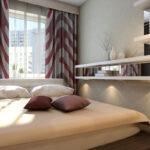 кровать изголовьем к окну в спальне