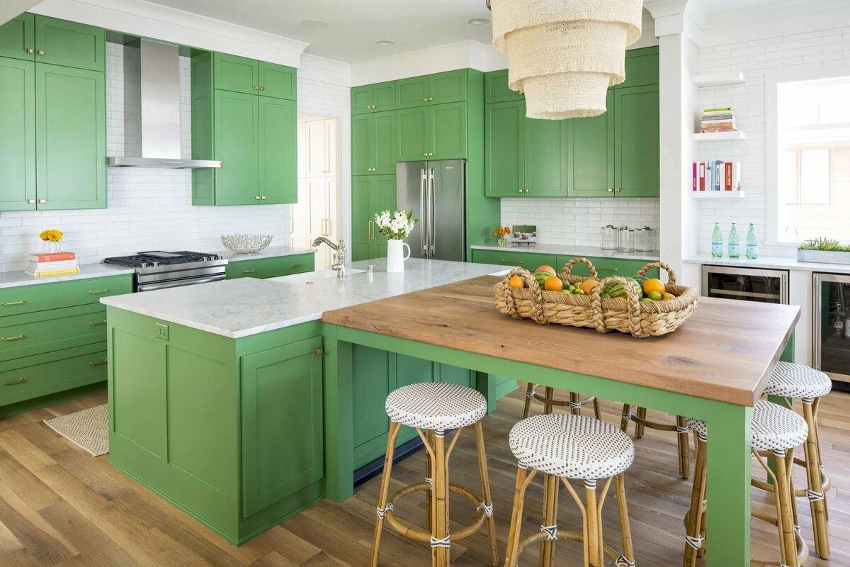 день картинки кухонная мебель зеленого цвета отправились инспекцией