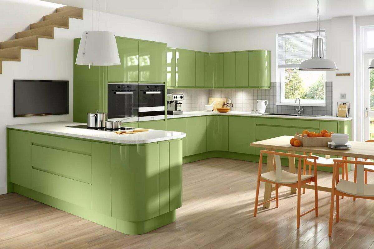 картинки кухонная мебель зеленого цвета камины для