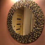 зеркало круглое беж