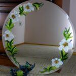 зеркало цветы