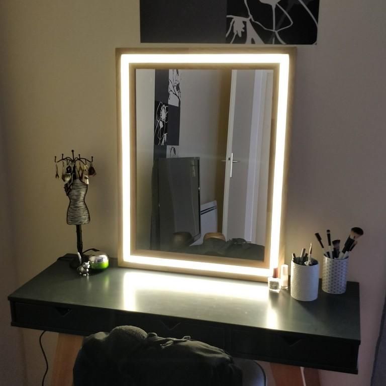 задний фон, зеркало с подсветкой своими руками фото часто снимается