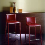 барный стул бордовый