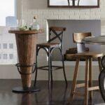 барный стул деревянный со спинкой
