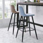 барный стул голубой