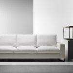 белый кожаный диван длинный