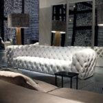 белый кожаный диван каретный