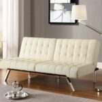 белый кожаный диван без подлокотников
