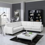 белый кожаный диван угловой