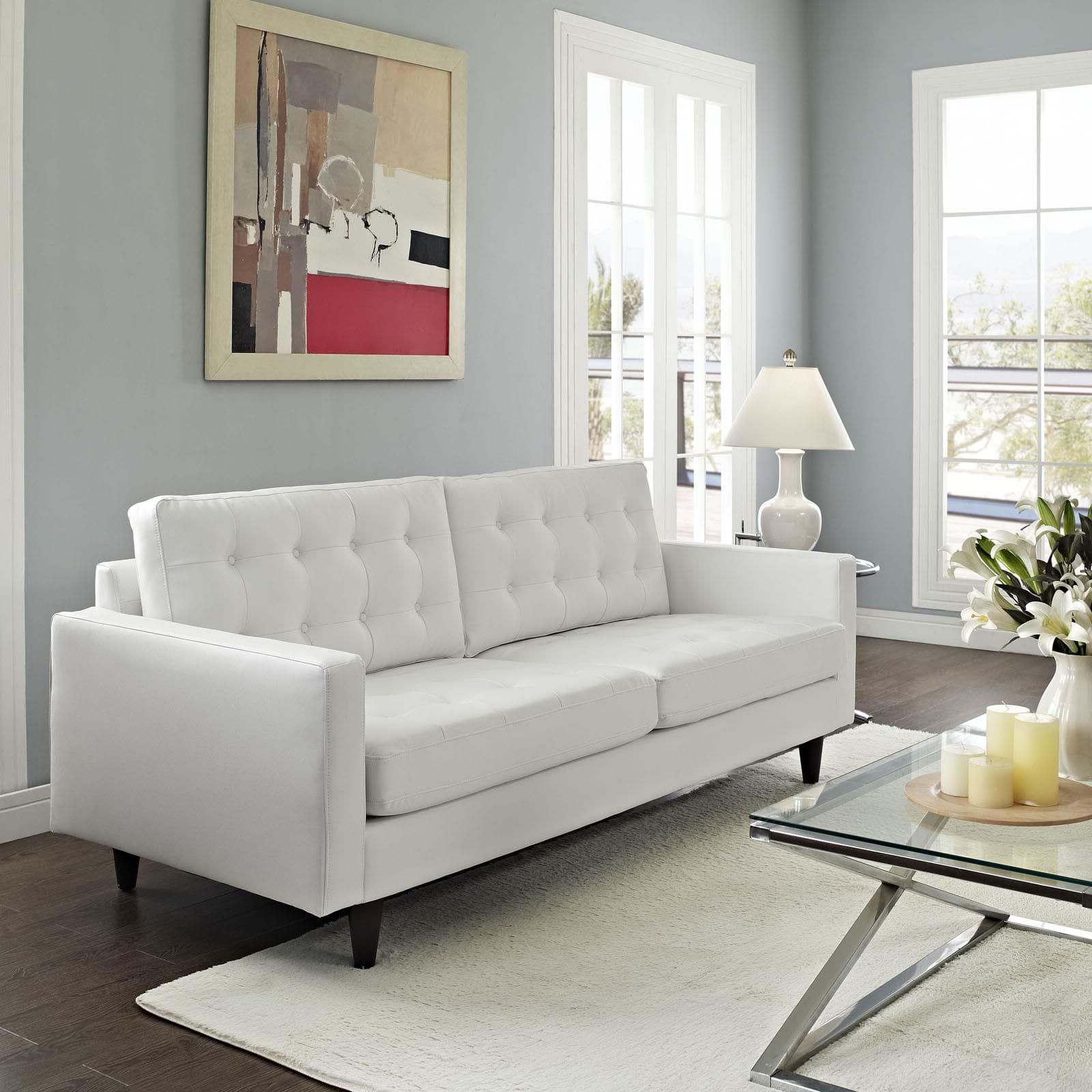 скандинавский белый диван