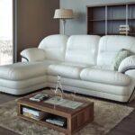 белый кожаный диван маленький