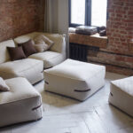 бескаркасная мебель фото интерьер