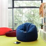 кресло круглое синее