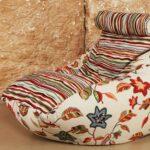 кресло лежак в полоску