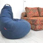 кресло груша синее