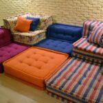 диван из пуфов