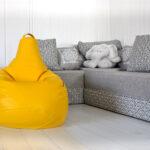 диван и кресло желтое