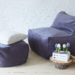 фиолетовое квадратно кресло