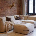 диван и стол бескаркасный