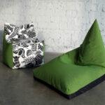кресло остроконечное зеленое