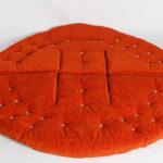 кресло-лепешка оранжевое