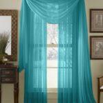 легкие прозрачные бирюзовые шторы