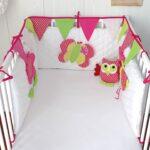 бортики для кровати с розовой совой