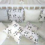 бортики для кровати с пандами