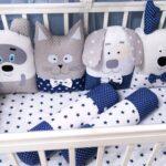 бортики для кровати серый кот