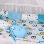 бортики для кровати голубой удав